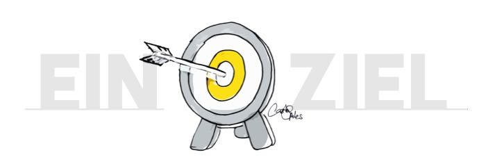 Eine Zielscheibe mit einem Pfeil in der Mitte – es kann nur ein Ziel geben!