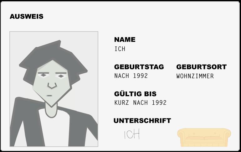 Personalausweis von ICH | Das Gelbe Sofa (Storytelling)
