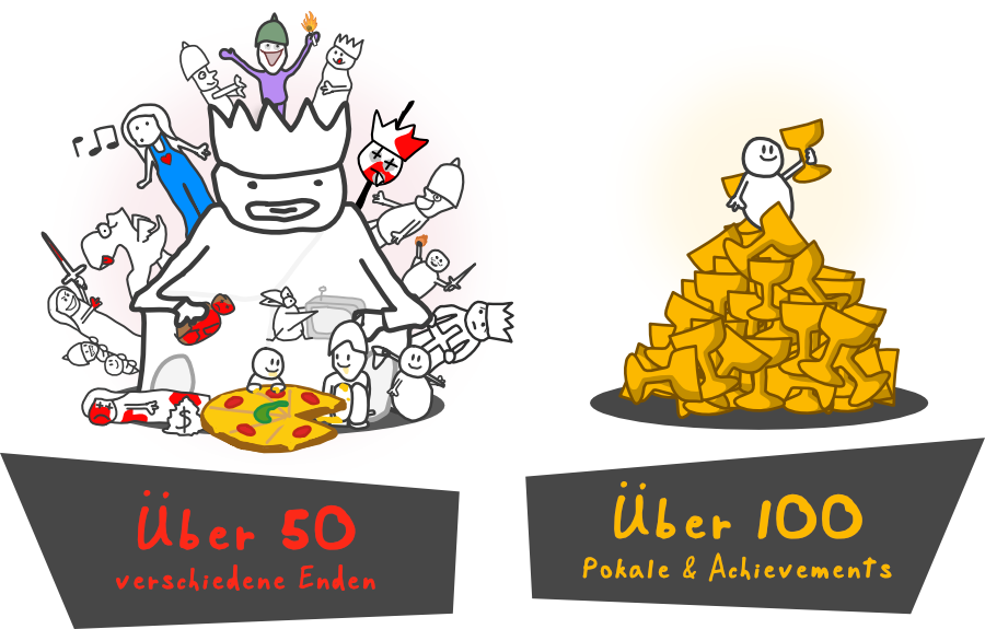 Über 50 Enden und 100 Pokale und Achievements   You Had One Job — Das Spiel